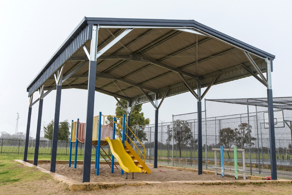 Success Primary School's playground shaded area. Picture: Will Russell