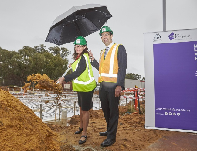 Deputy Premier Liza Harvey with South Metropolitan MLC Nick Goiran at the official sod turning last Thursday.