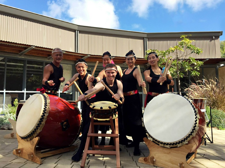 Japanese drumming band Taiko On will perform on Sunday.