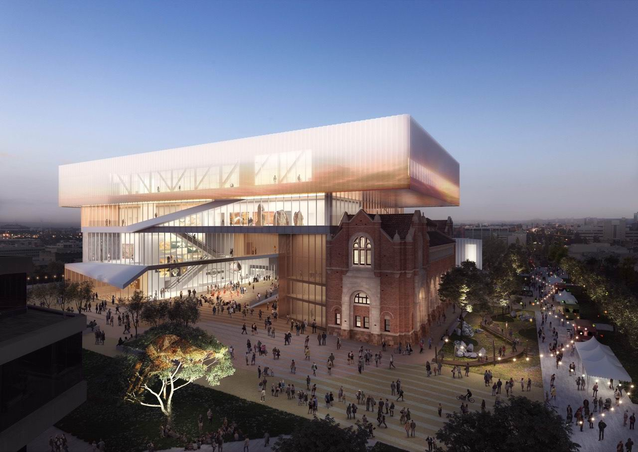 An artists' impression of the new WA Museum. Photo: WA Government