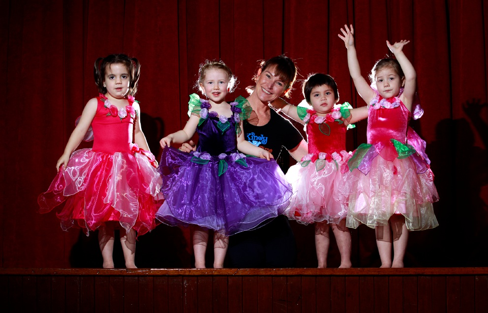Lara Gandini is pictured with a group of her young dancers at Mundaring Hall.