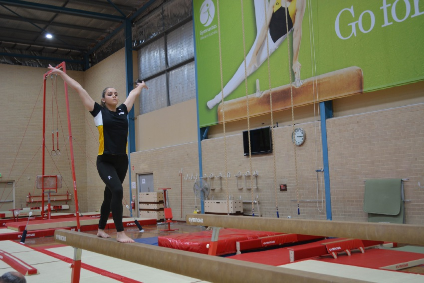 Gymnast Paige James' future in the sport is now uncertain after funding cuts were announced to the women's artistic gymnastics program.