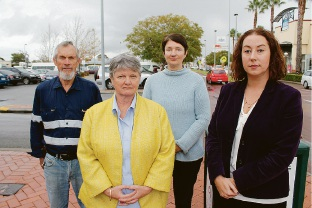 Redcliffe residents Peter Crookes, Sue Pethick and Bella Scharfenstein and East Metropolitan MLC Samantha Rowe are continuing their campaign to keep Brearely Avenue open.