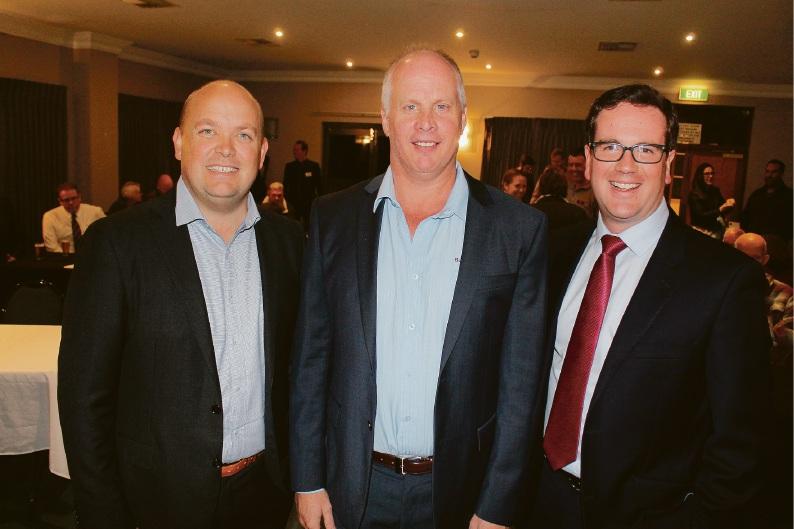 Liberal candidate Matt O'Sullivan, Business Armadale president Paul Harrison and Labor candidate Matt Keogh at the Battle for Burt debate last week.