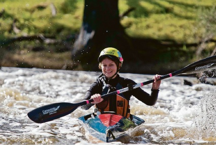 Baillie Liddle competing at last year's Avon Descent.