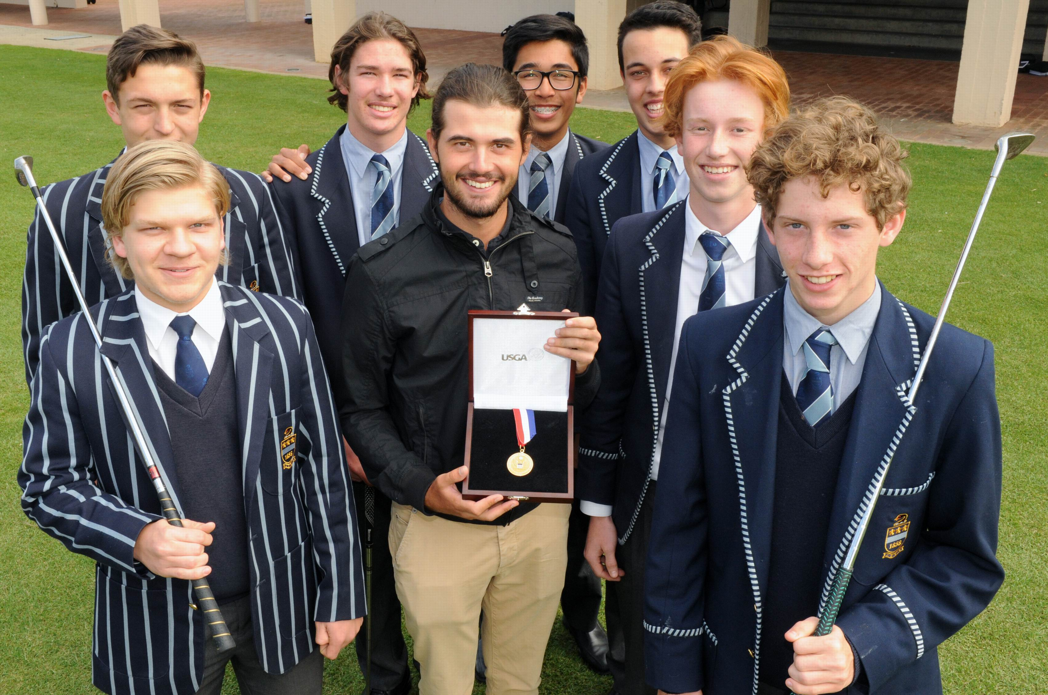 No Luck involved: Curtis talks to Hale School students about what it takes to achieve golf success