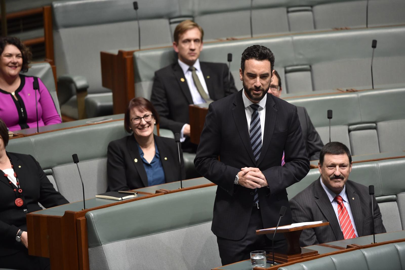 Perth MHR Tim Hammond giving his maiden Parliamentary speech.