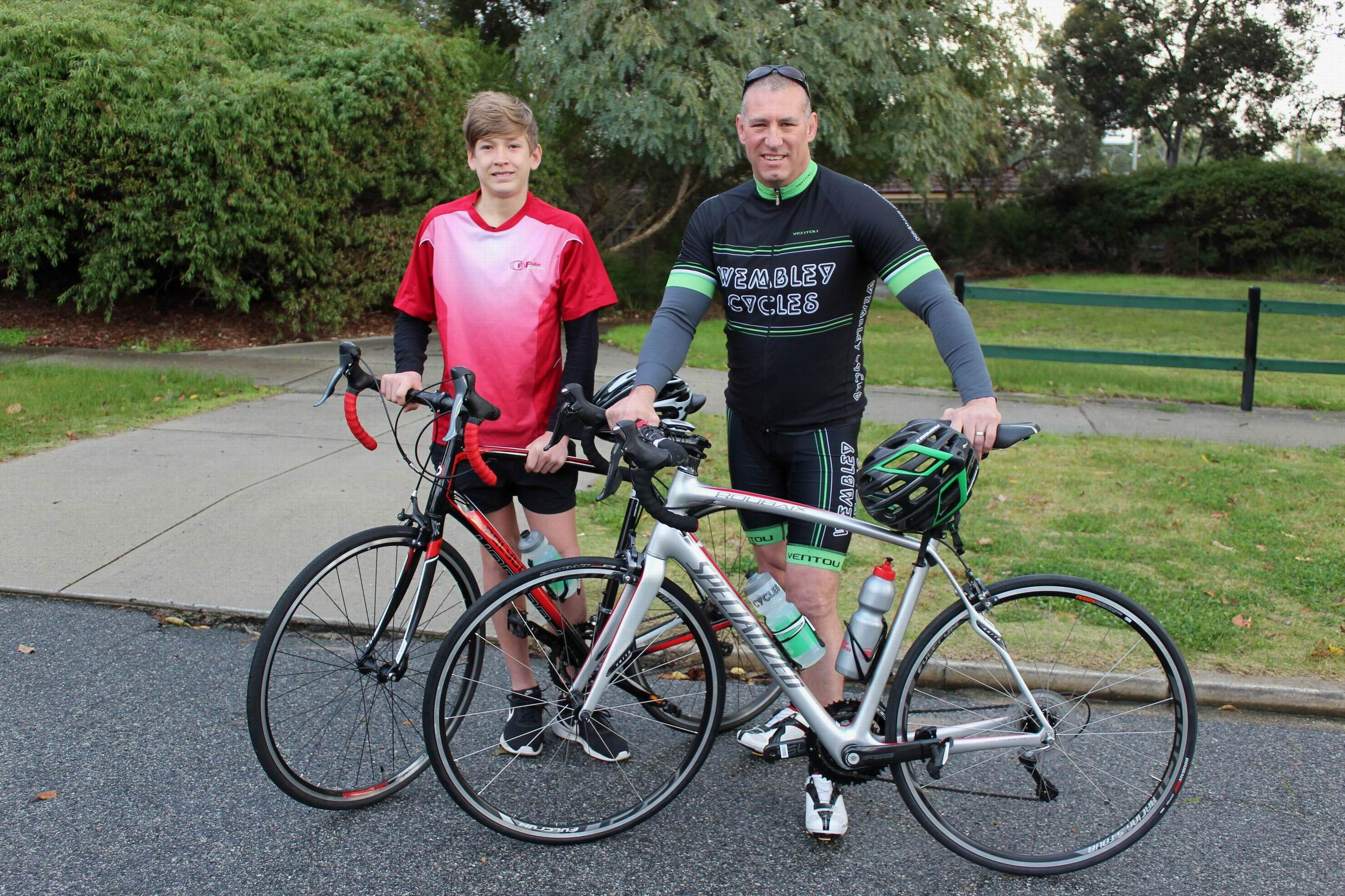 Subiaco businessman teams up with teenager to complete epic bike ride for Telethon