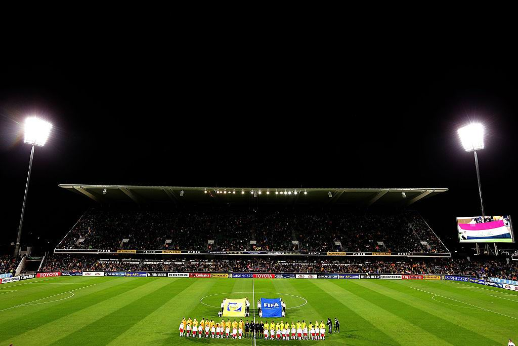 The 2018 FIFA World Cup Qualifier match between Australia and Iraq at Perth Oval. Picture: Will Russell/Getty Images