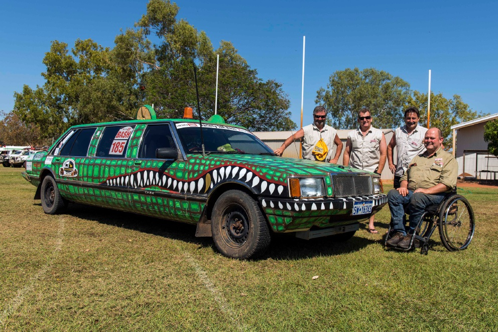 The Crocodiles crew during the 2016 Variety Bash.  Picture: Tony Tropiano