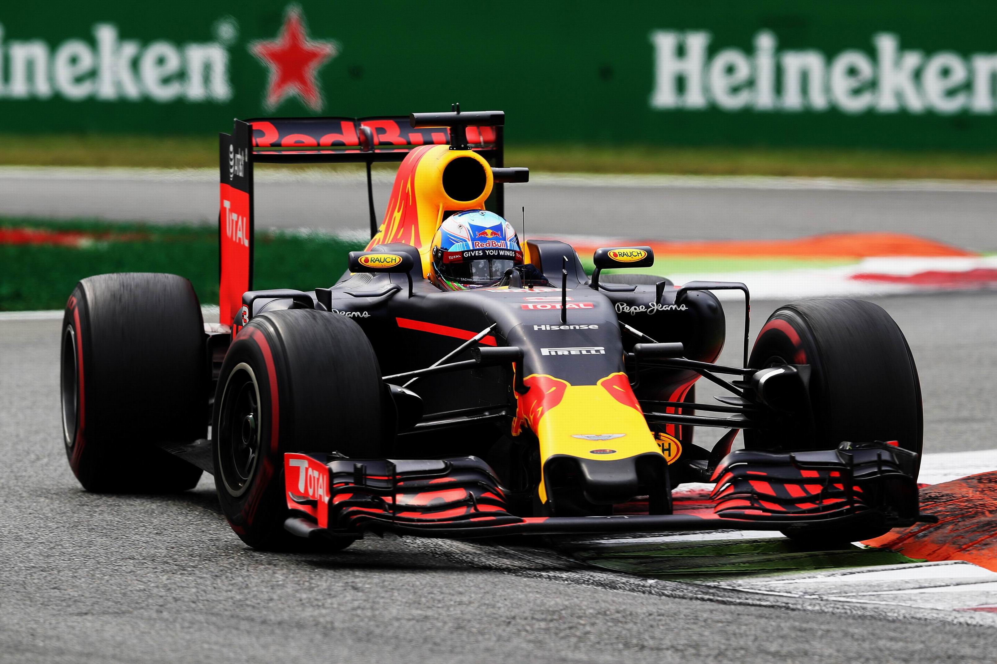 Daniel Ricciardo driving his Red Bull  during the Formula One Grand Prix of Italy at Monza. Picture: Mark Thompson/Getty Images