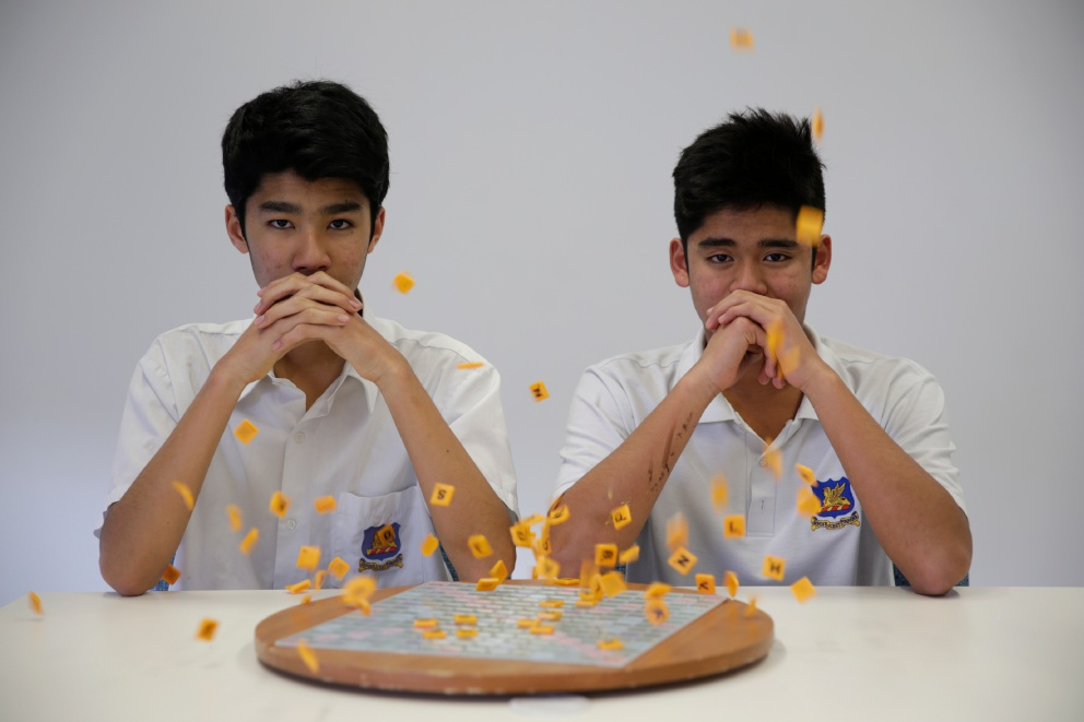 Brothers Radheya and Rahul Jegatheva came very close to being ranked in the top 50 of the world's best youth Scrabble players. Picture: Andrew Ritchie        d458151