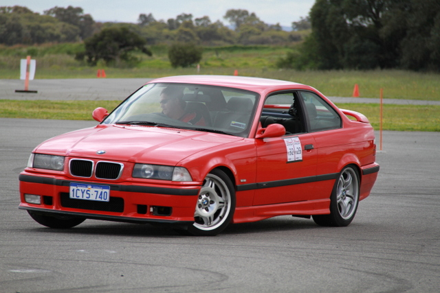 Kingsley motorkhana driver Mike Brewer in action in his M3.