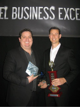 Business of the Year award winners Jye McCaffrey and Grant Pattison from 4 Life Physiotherapy.