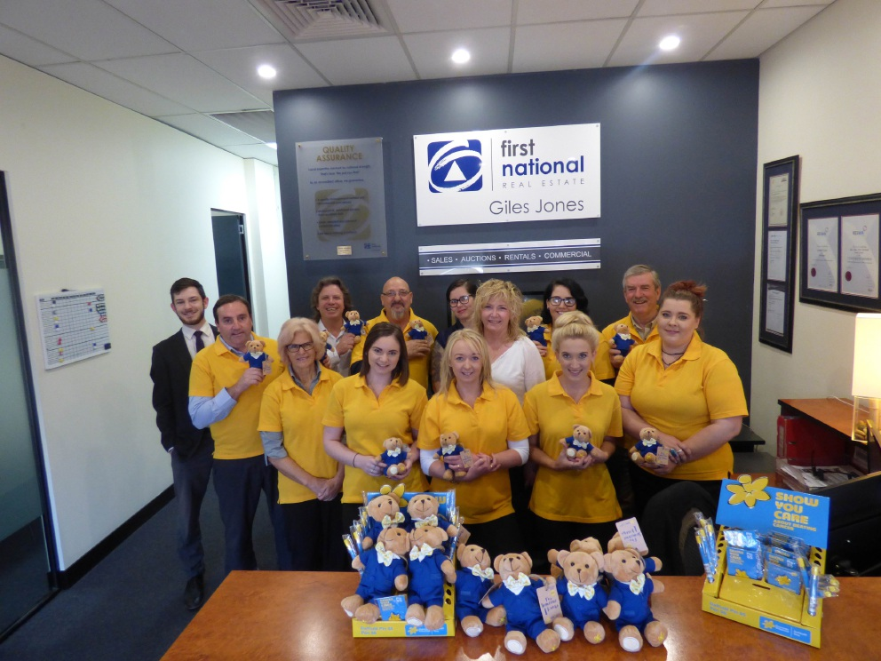 Midland staff at First National Real Estate Giles Jones staff raised more than $87 000 dollars for Daffodil Day in recent years.