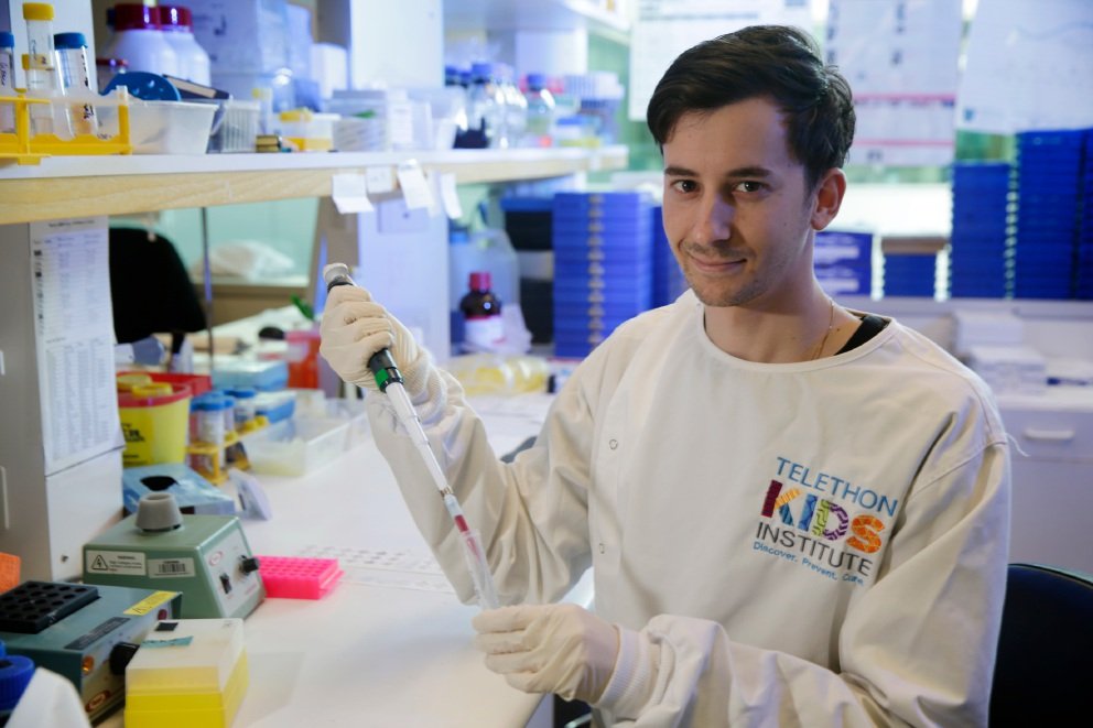 Anthony Buzzai  hopes to continue his cancer research  overseas. Picture: Andrew Ritchie www.communitypix.com.au   d458864