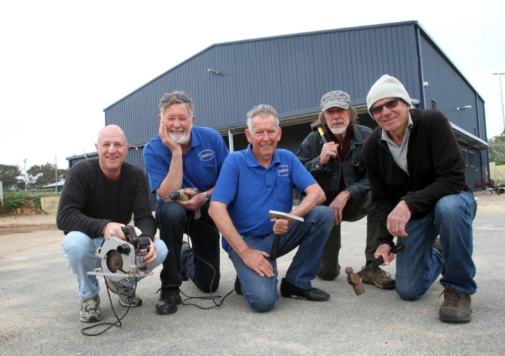 Ready to go: Brian Cobb, Rob Chapman, Bill Johnstone, Graham Johnson and Peter Alcock. Picture: Robin Kornet www.communitypix.com.au   d458666