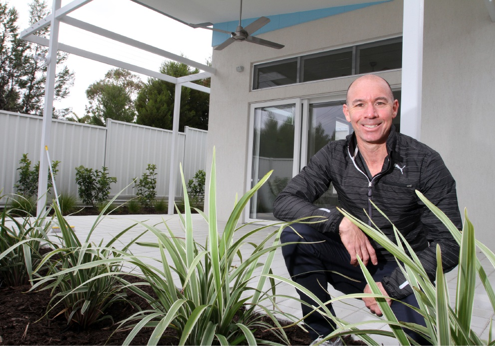 Ivor Bruce, who is studying sustainability in university, has built his own home to make the best use of what nature provides.  Picture: Robin Kornet        www.communitypix.com.au   d459000