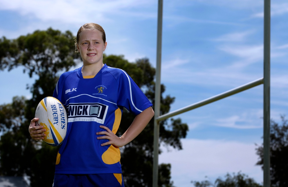 Rugby player Grace McFillin. Picture: Marie Nirme    d449173