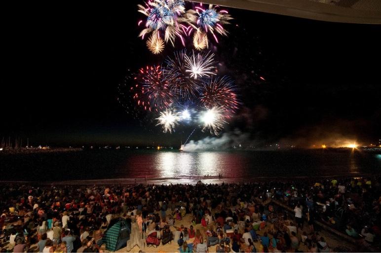 Australia Day fireworks over Fremantle.