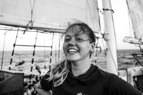 Jordie Martin (19) works as a volunteer crew on the STS Leeuwin II.