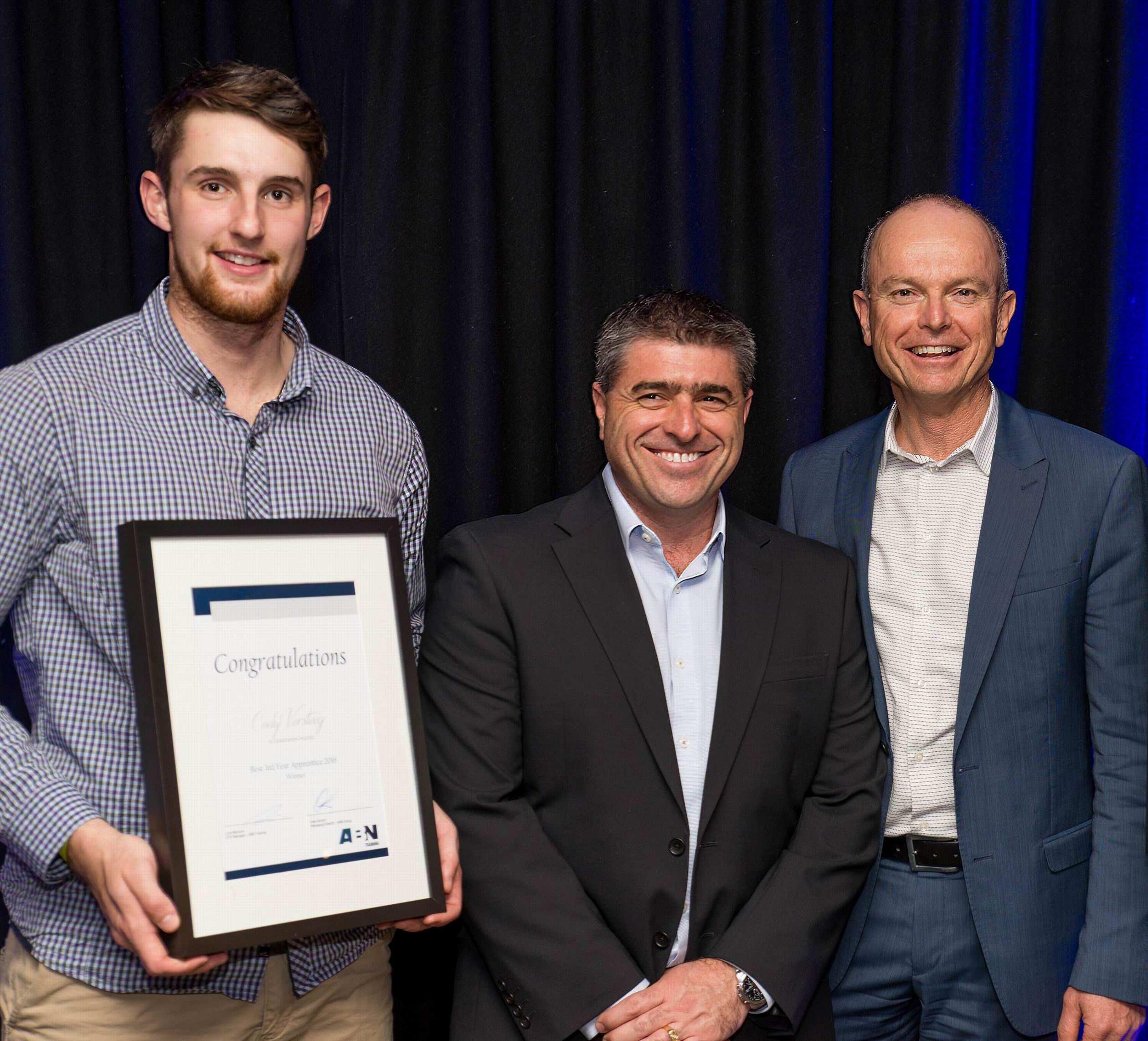 East Perth apprentice collects second apprentice of the year award