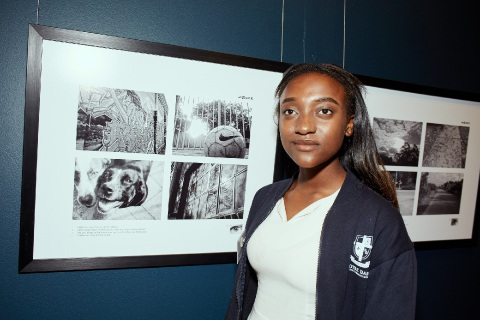 Anna at the As Eye See It Photographic Exhibition launch.