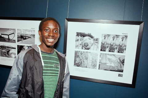 Frank at the As Eye See It Photographic Exhibition launch