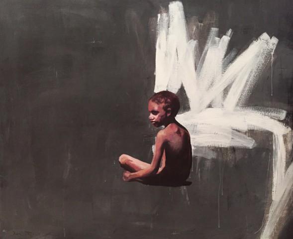 Lori Pensini's painting 'Bower Boy'.