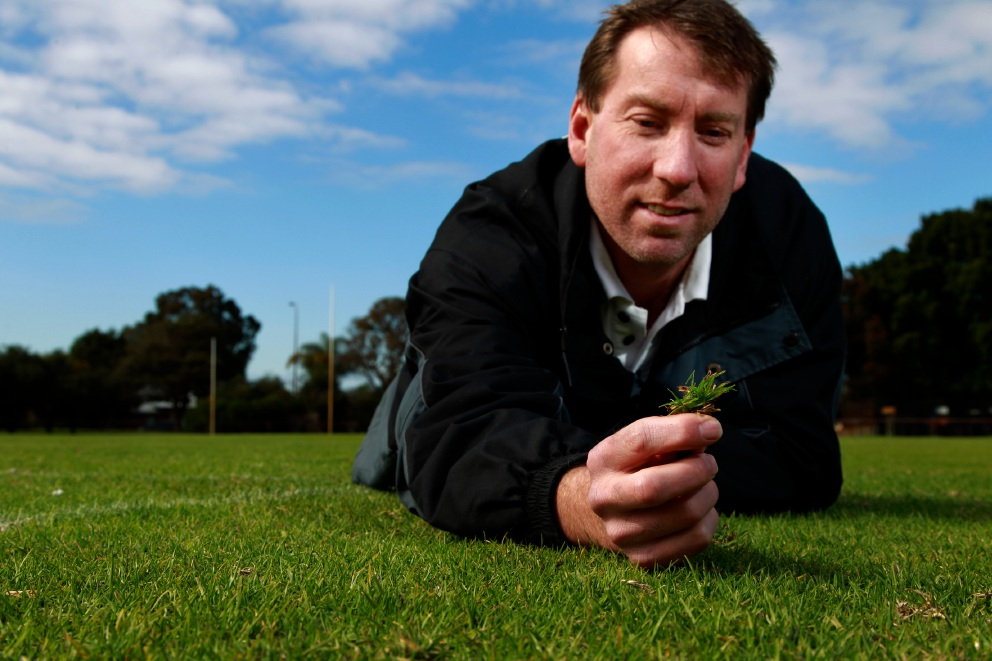 City of Canning park supervisor Paul Wright at Wyong Reserve in Wilson. Picture: Marie Nirme