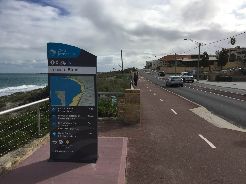 City of Joondalup installs Sunset Coast Trail signs