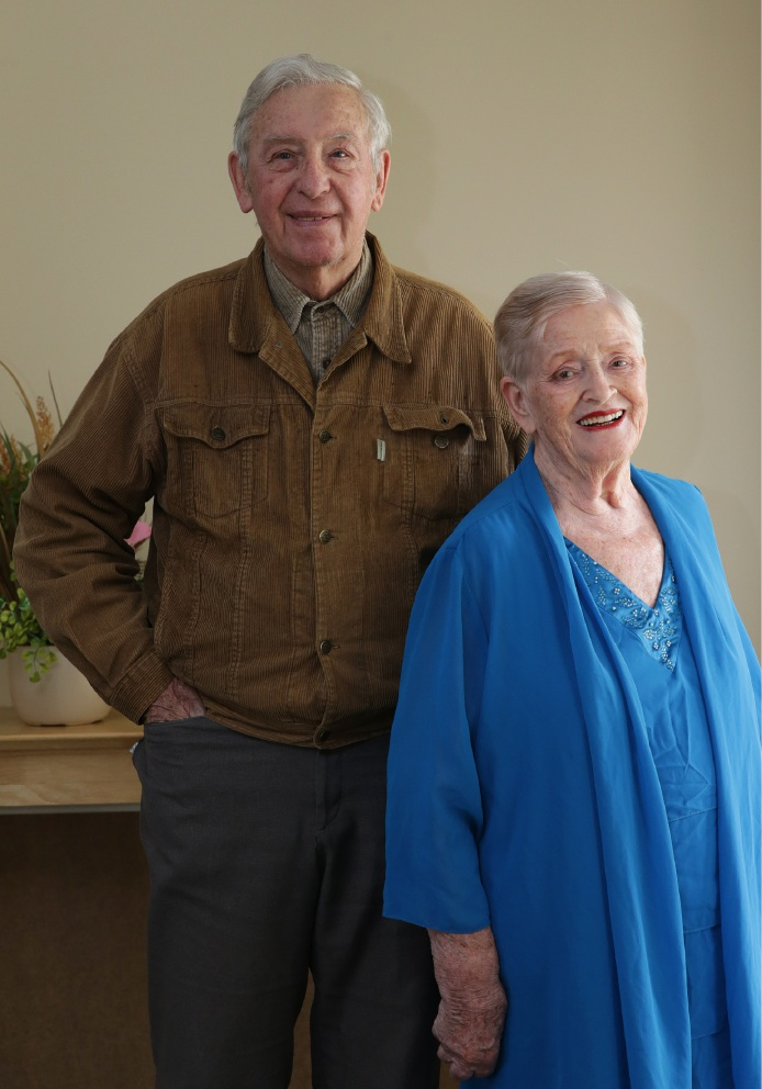 Happy anniversary: Raymond and Patricia Chapple in Yanchep this week. Picture: Martin Kennealey d459124