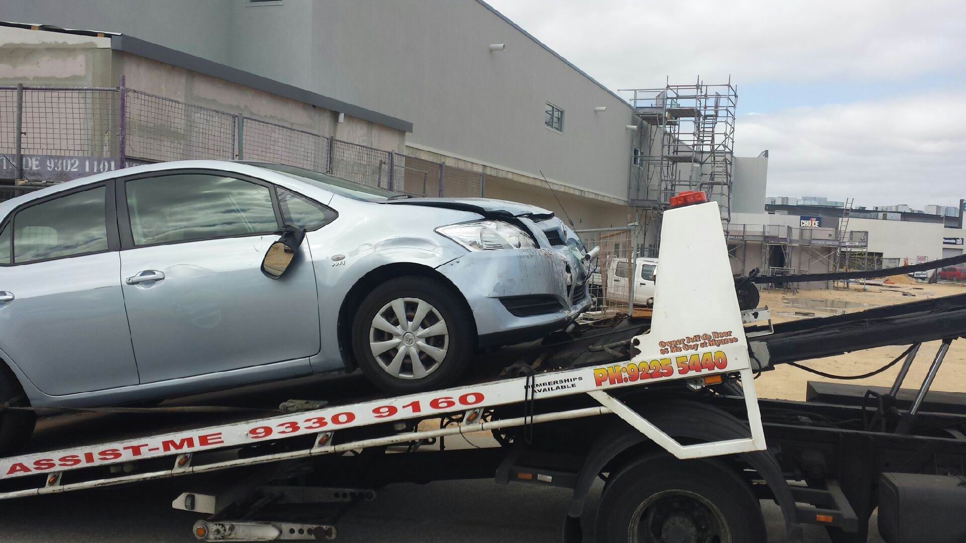 An elderly man drove his Toyota through a Thai restaurant in Baldivis. Pics: Gabrielle Jeffrey.