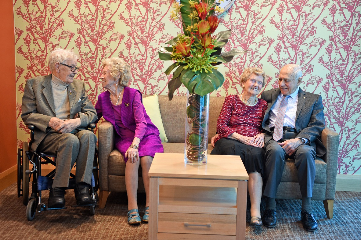 Jessie and Bill Dick and Nita and Bob Gregory. Picture: Supplied