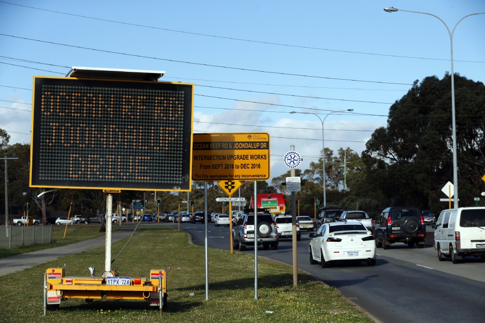 Ocean Reef Road and Joondalup Drive: busy intersection to be upgraded