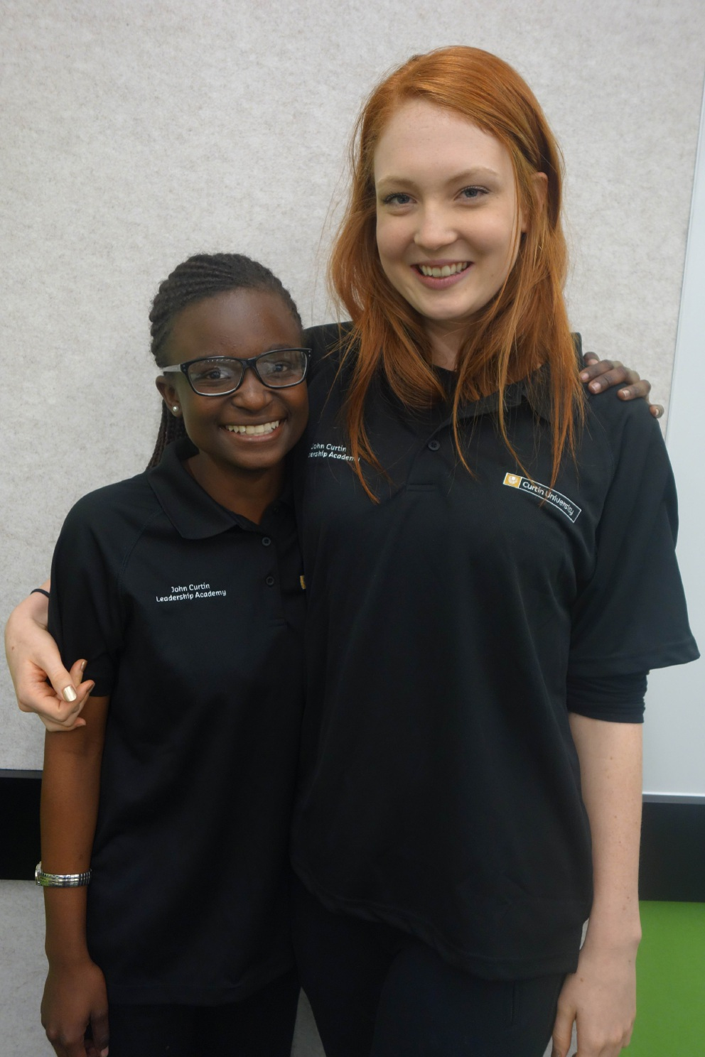 Sarah Wilson from Marmion and Anesuishe Mtabeni from Butler are part of the John Curtin Leadership Academy.
