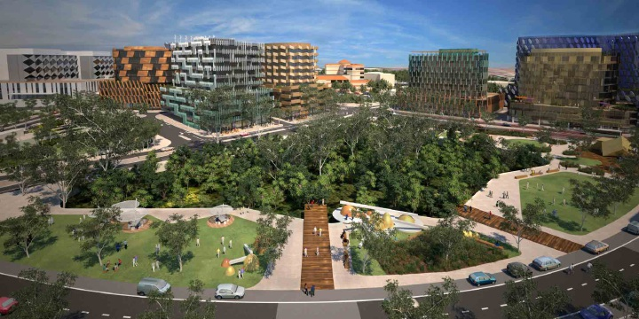 An artist's impression of the Murdoch Health and Knowledge precinct.
