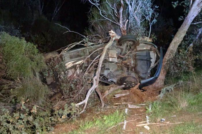 Woorooloo fatality: woman (22) dies after car rolls and hits tree