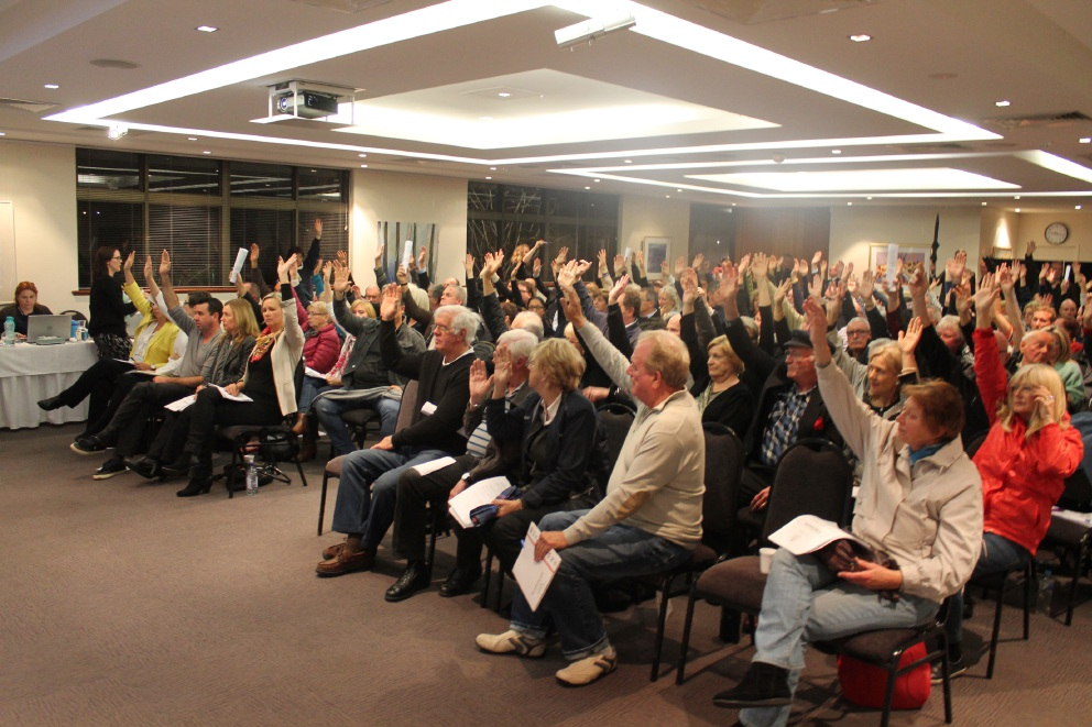 Up in arms over 15-storey development: Residents are 'overwhelmingly opposed' to the sale of council land to Craigcare for them to build a retirement village.