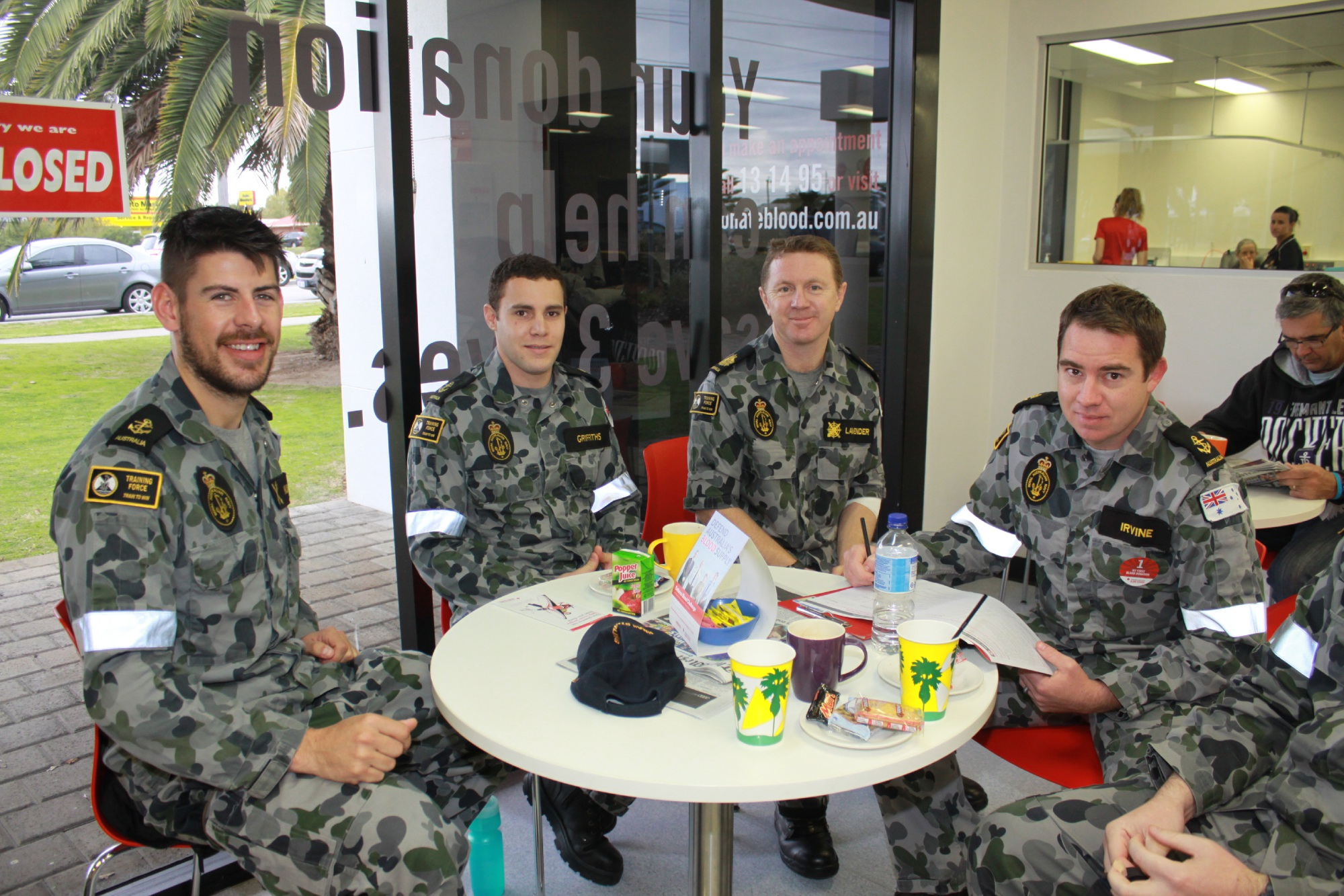 Navy personnel after donating blood last Friday September 2.