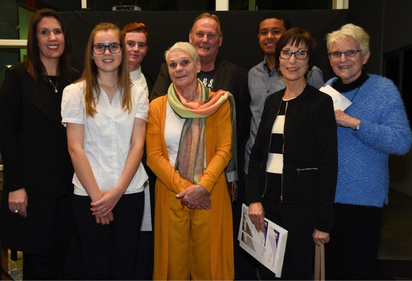 Back: Rachel Gillam, Joshua Wimble, Richard Kabzinski and Xavier Hubbard. Foreground: Briannah McCabe, Margaret Wendt, Jackie Peach and Christl Wulff.