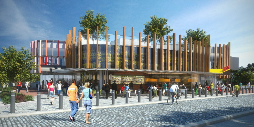 A concept plan of the proposed Southern Suburbs Library in Madeley. Picture: Bollig Design Group