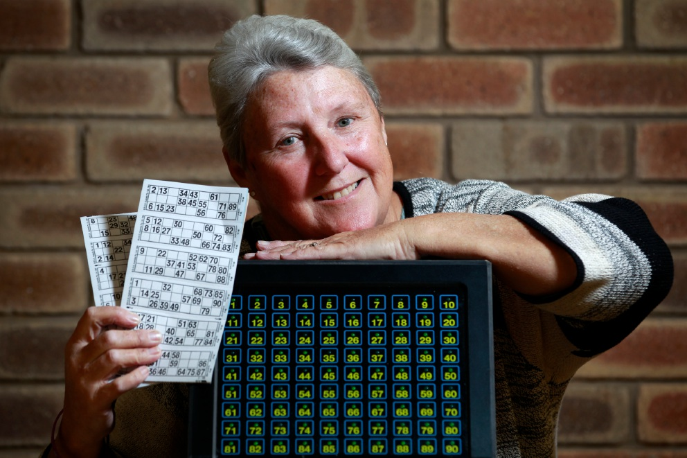 Julie Otremba hopes more people will join the bingo nights.  Picture: Marie Nirme www.communitypix.com.au   d458946
