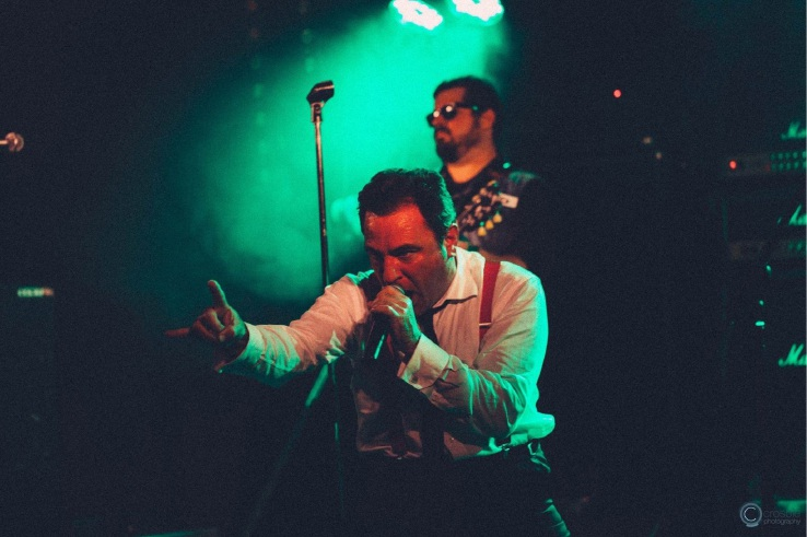 Frontman Tim Watt and guitarist Doug Eames. Picture: Crosbie Photography