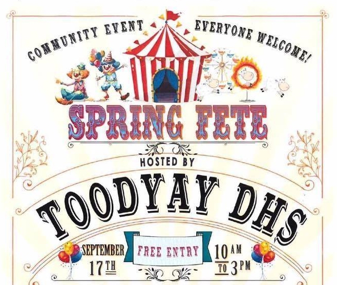 Toodyay District High School Fete on this Saturday