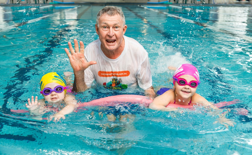Former Olympic coach Laurie Lawrence encourages parents to take advantage of free swimming lessons for young children.