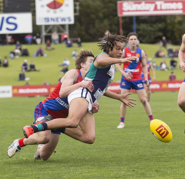 AFL players such as Tendai Mzungu proved a handful for West Perth against Peel. Picture: Dan White