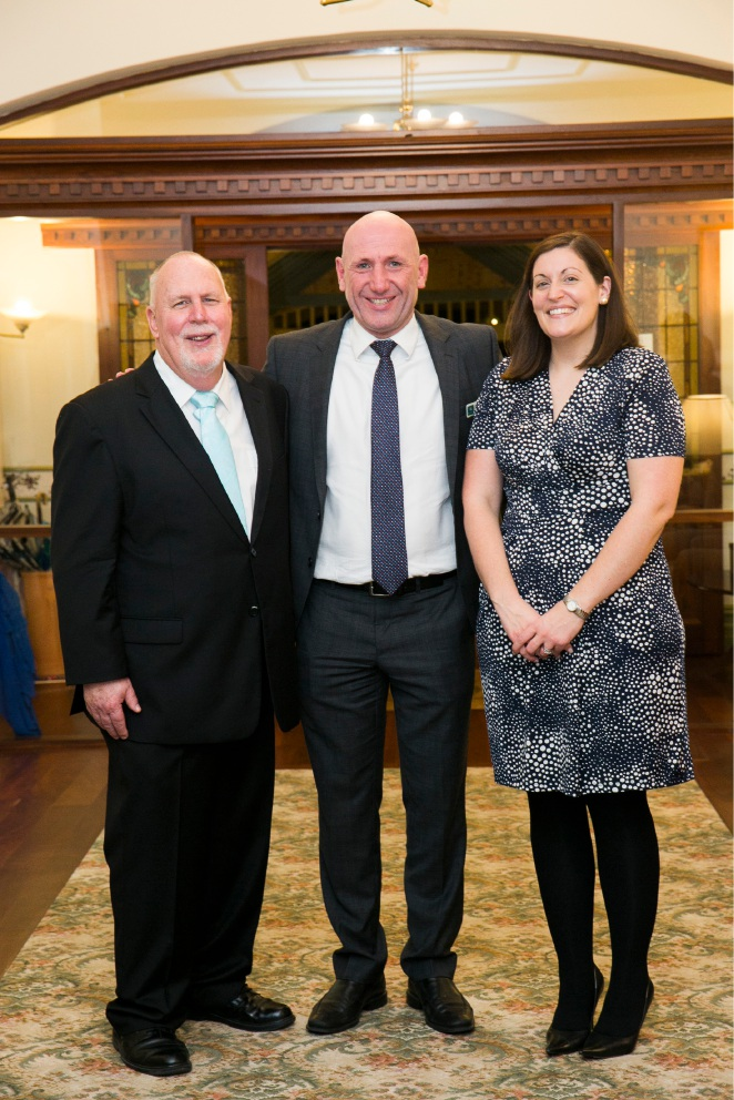 Village manager Duncan Ridley, St Ives Retirement Living chief executive John Ford and personal assistant Fiona Connell.