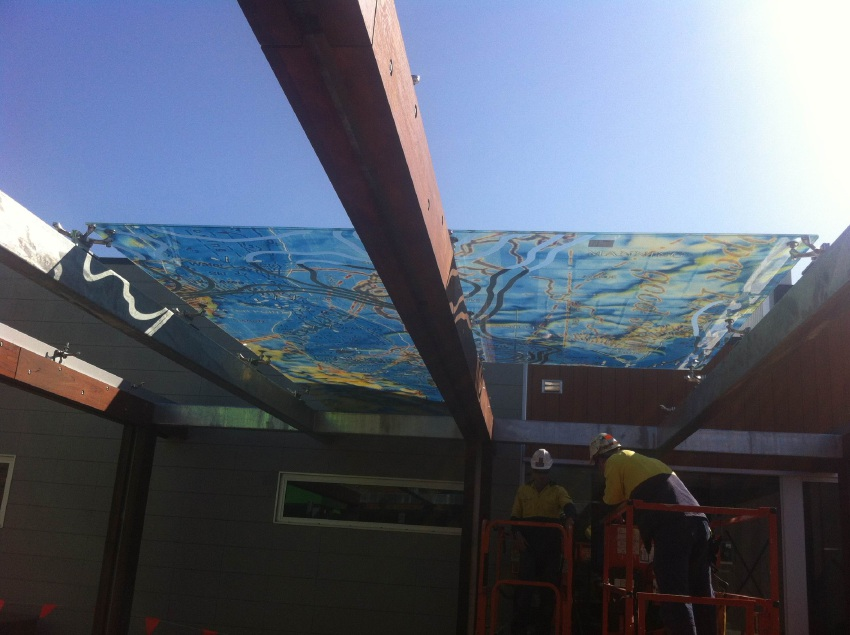 Artwork installed as Manning Community Hub nears completion