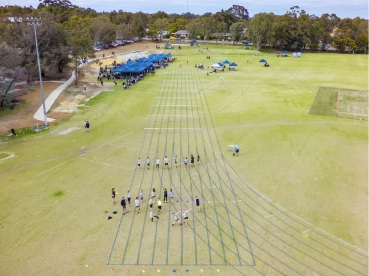 The new track and field at the Kostera Oval for the school sports day.